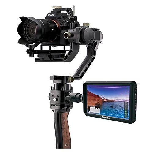 Lilliput A5 5 inch 1920x1080 HD DSLR Monitor Output with Nikon A7 A9 Zhiyun Crane M TILTA Ronin-S