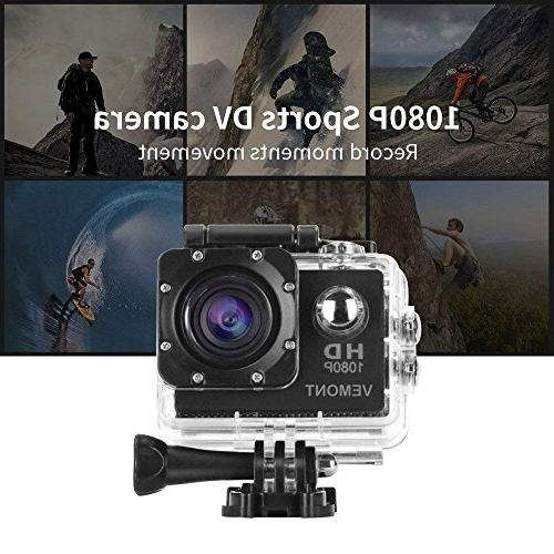12MP Camera Full HD 2.0 Cam 30m/98ft Underwater Waterproof Camera Kit