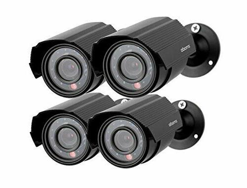 Zmodo 4-Pack Analog CCTV 700TVL HD Motion Bullet Security Ca