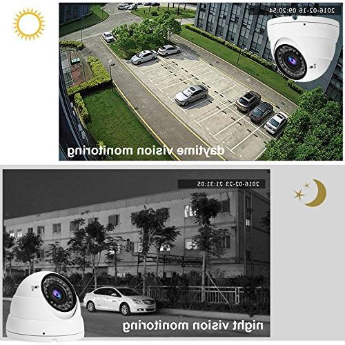 Hykamic CCTV HD Dome Camera, Varifocal Lens, True Night Monitoring IP66