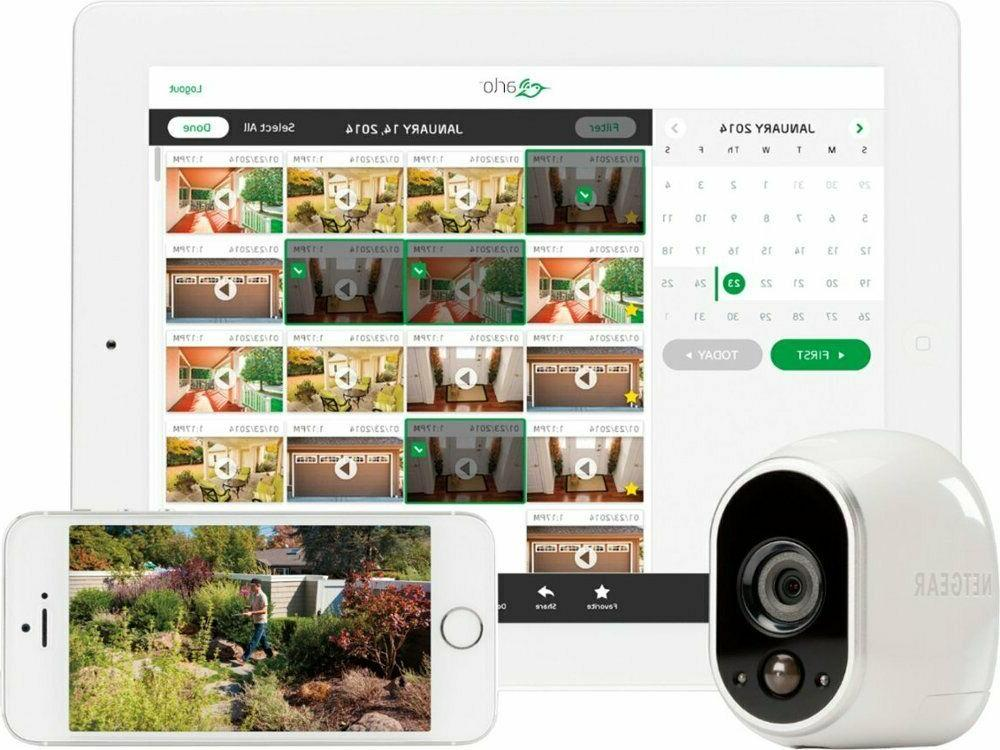 NETGEAR 4 Wire-Free Cameras, Indoor/Outdoor,