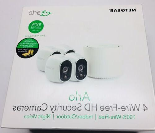 arlo security system with 4 wireless hd