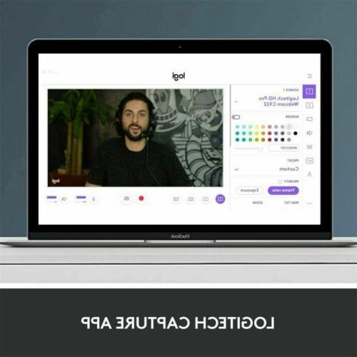 Logitech Webcam 1080p HD for Stream With Tripod