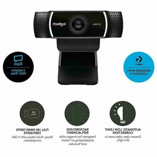 Logitech Stream Webcam for Record Tripod