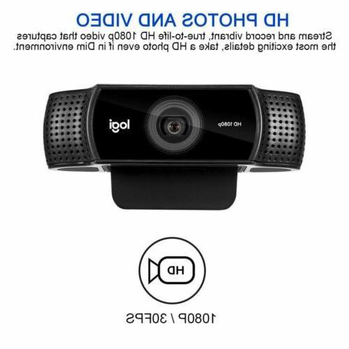 Logitech Pro Stream Webcam HD for Stream Record With Tripod