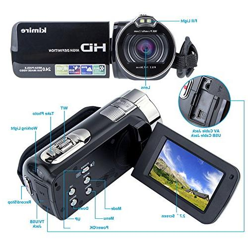 Digital Camera HD 1080P MP 16X Powerful Digital Zoom Video Inch LCD Stabilization 270 Rotation