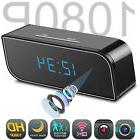 Clock Hidden Camera WiFi HD 1080P Mini Alarm Security Night