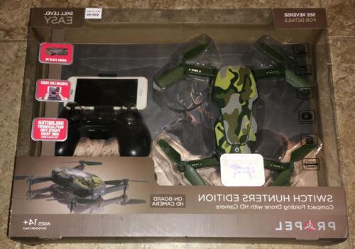 compact folding drone with hd camera camo