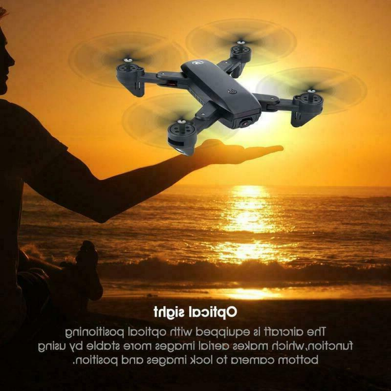 Cooligg Quadcopter Drone HD Camera FPV RC 3 Batteries