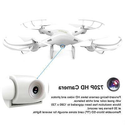 Cheerwing CW4 RC Quadcopter Drone W/ HD + batteries