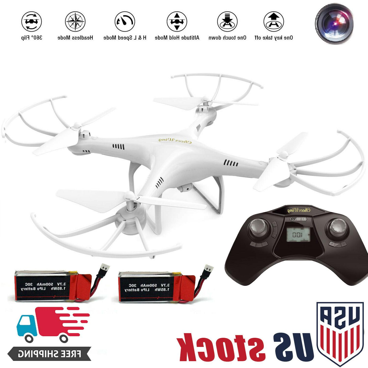 Cheerwing CW4 Explorers RC Quadcopter Drone w/ HD Camera Hea