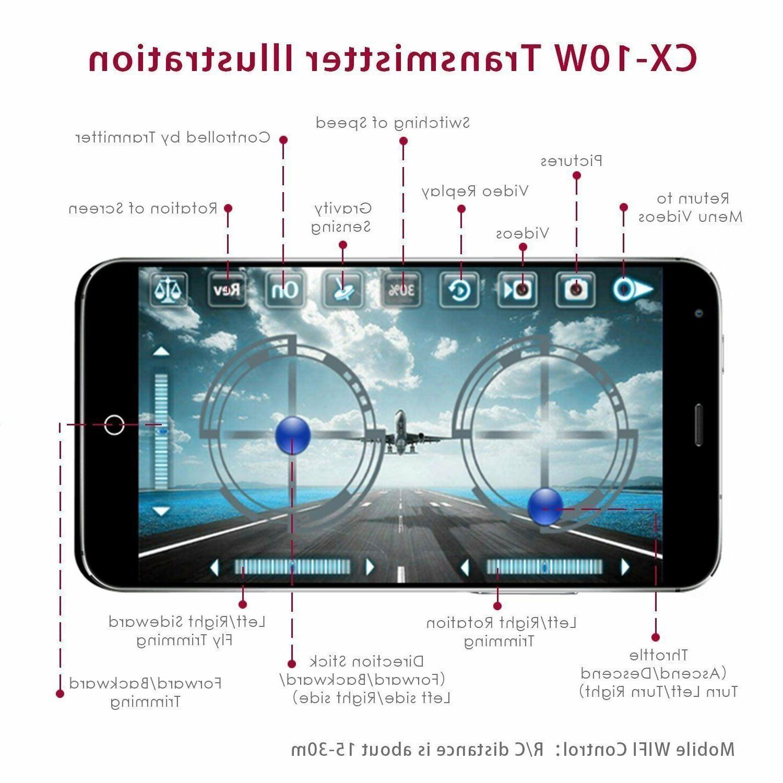 CX-10W 2.4Ghz Gyro w/ HD Wifi