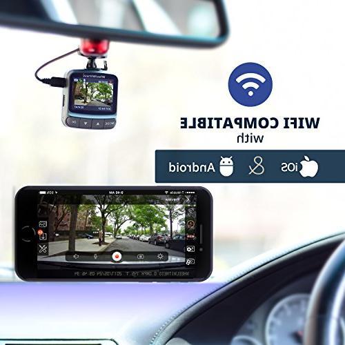 WheelWitness Dash PRO - Premium Dash Camera for Cars WiFi & GPS, Sensor, DVR, USB G Sensor, Night +