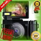Digital Camera Vlog Full HD 1080p Point And Shoot Flip Scree