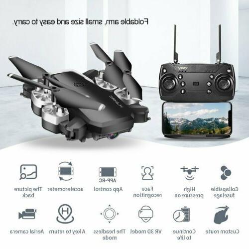 Drone Pro Selfi Wifi GPS 1080P HD 6-axis RC Quadcopter