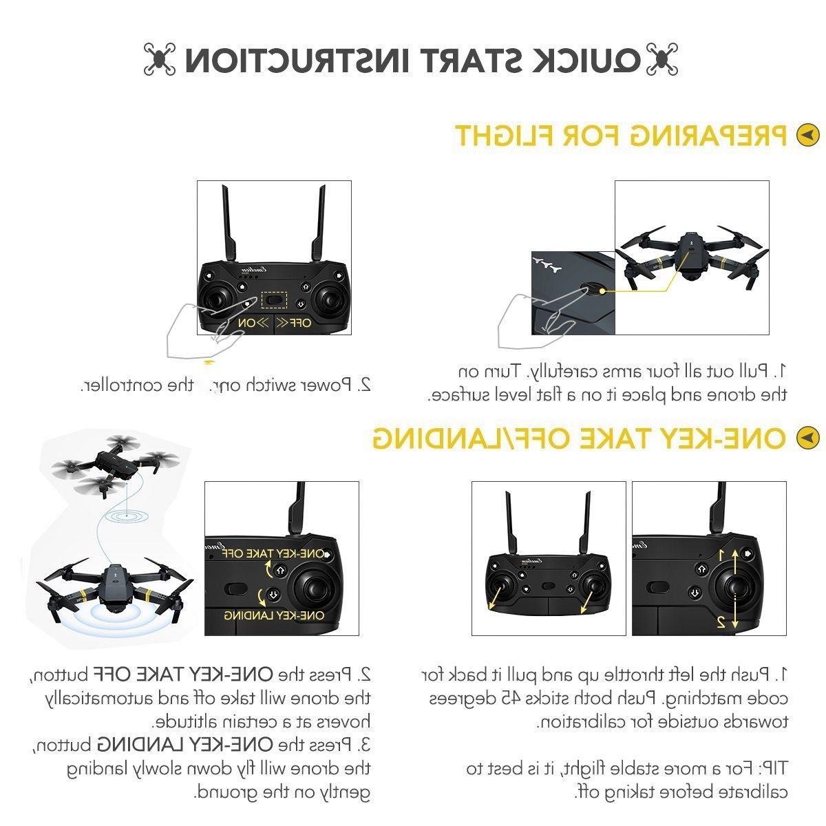 Drone X Mavic Selfie RC Foldable Drone