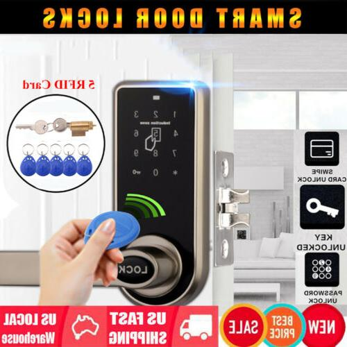 Electronic Password Door Lock Keypad Touch Screen 5 Card