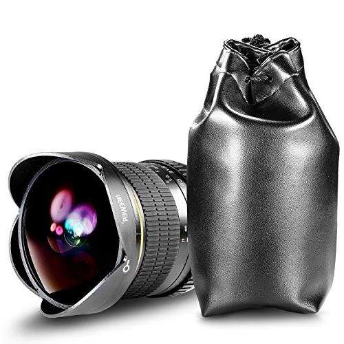 Neewer Aspherical HD Fisheye for Nikon with Protective Lens Removable Lens Hood Carrying