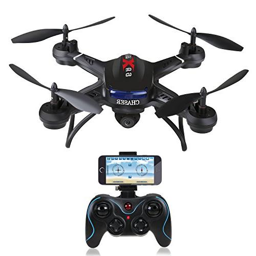 FPV Drone with Wide-Angle HD Camera Live Video Quadcopter with Altitude Hold, Sensor Function, and to Compatible