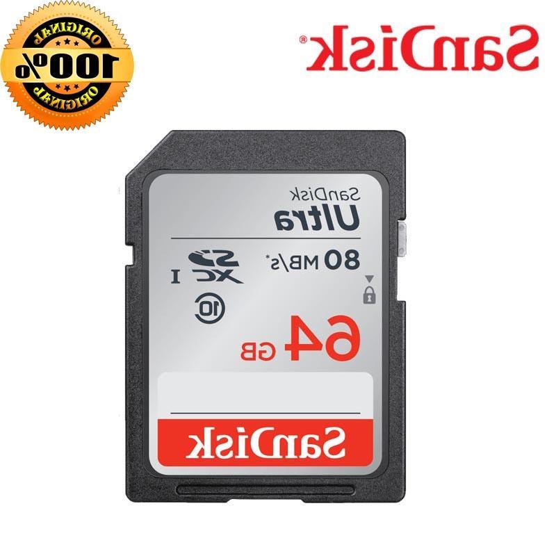 <font><b>SanDisk</b></font> Memory 16GB Class10 64GB 128GB Speed SD SDHC memoria carte tarjeta <font><b>HD</b></font> video