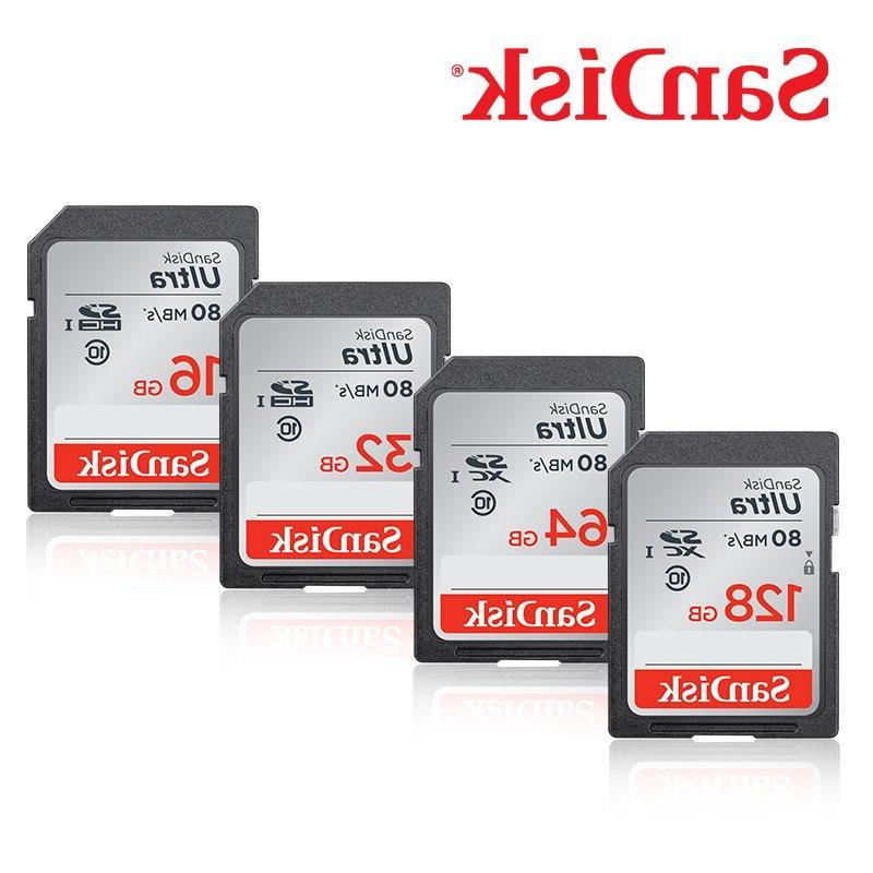 <font><b>SanDisk</b></font> Card Class10 64GB 128GB Speed SD Card SDHC carte <font><b>HD</b></font> <font><b>Camera</b></font>