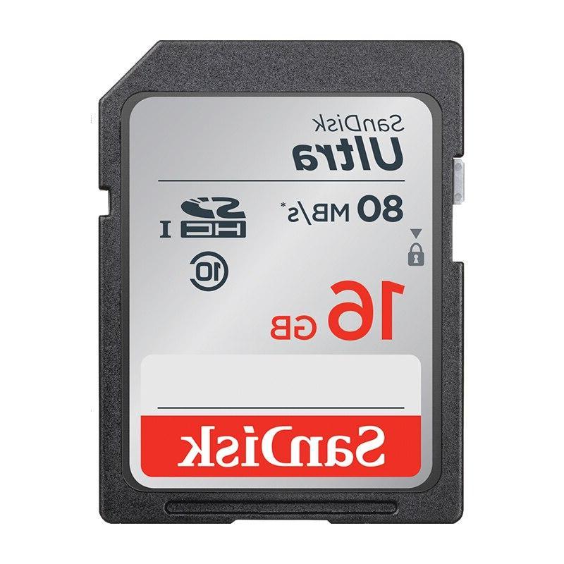 <font><b>SanDisk</b></font> Ultra SDHC/SDXC SD 16GB Cards Flash Card <font><b>HD</b></font>