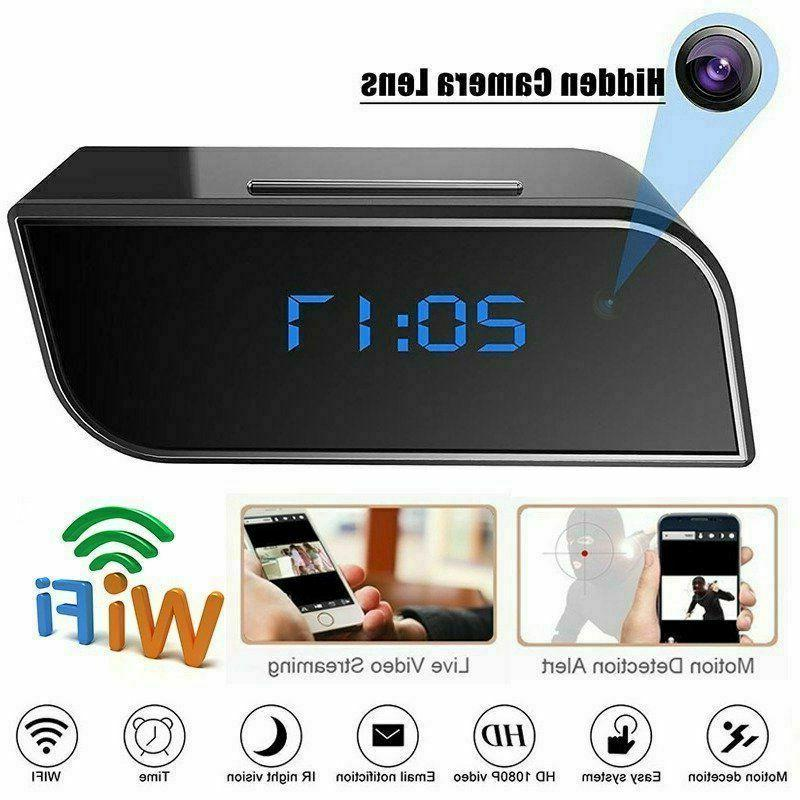 <font><b>HD</b></font> 1080P Alarm Clock <font><b>Camera</b></font> Motion <font><b>Home</b></font> Security Protection IR Cam Nanny IP
