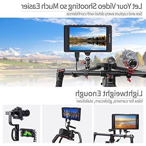 FEELWORLD FW450 DSLR Field IPS 1280x800 Small Video Assist with 4K Focus Portable LCD