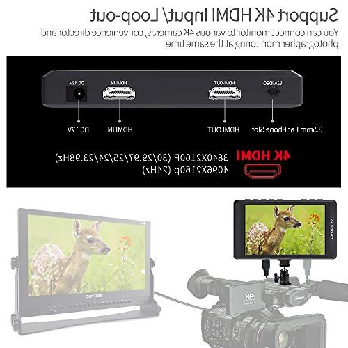 FEELWORLD inch DSLR IPS Video Assist HDMI Input Peaking Focus Portable LCD Monitor