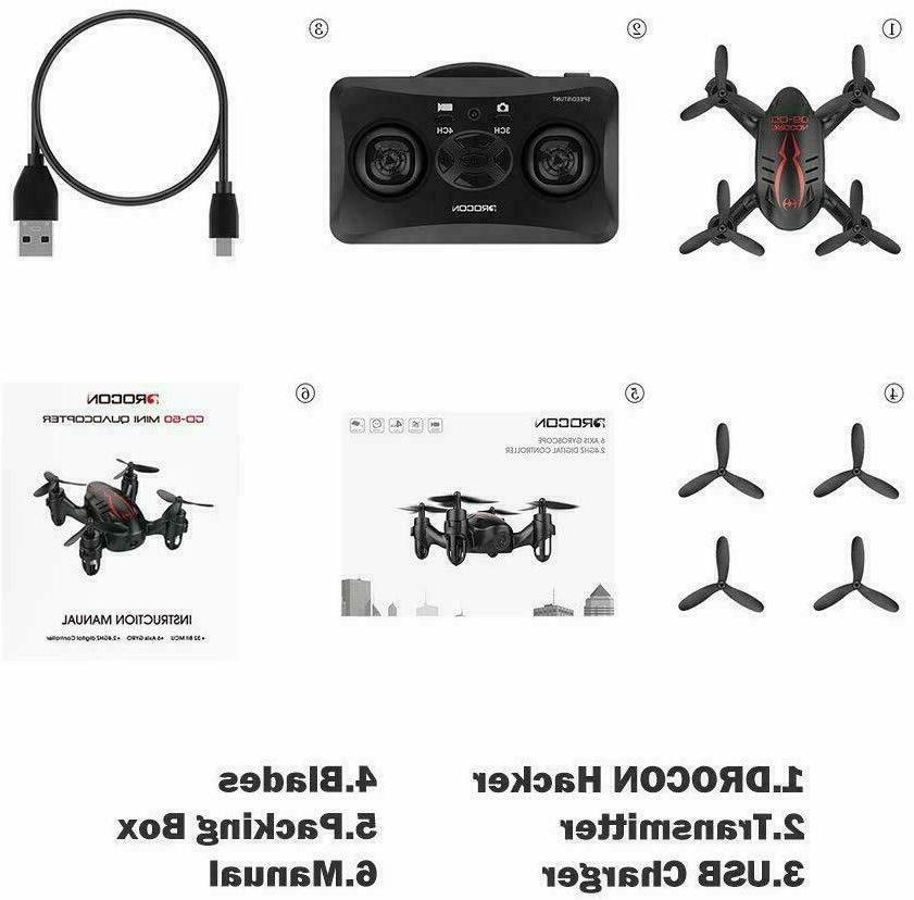 DROCON With Micro RC Quadcopter Kids