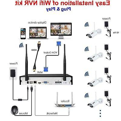 H265+ Security Camera 4-Channel 4