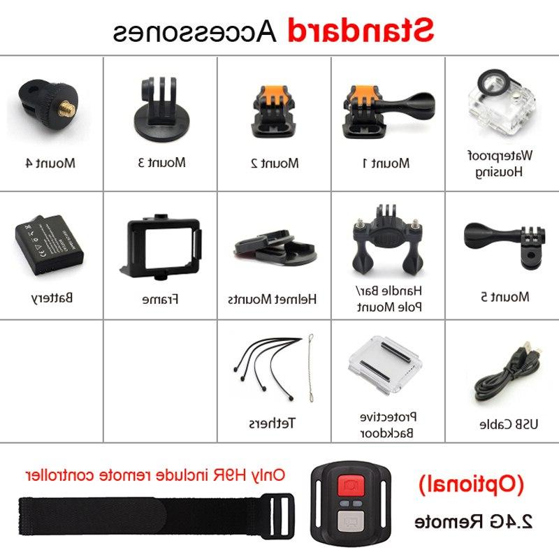 "EKEN H9R / 4K 2.0"" 170D Underwater Helmet Video Recording Sport Cam"