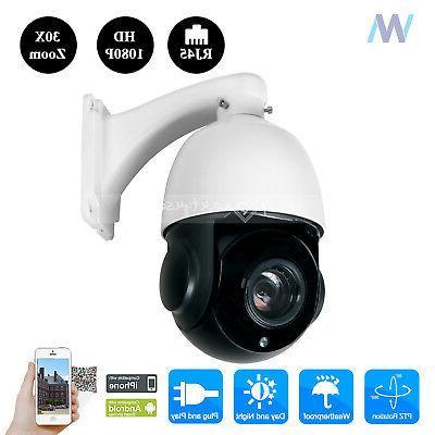 HD 2MP Outdoor IP Camera Waterproof PTZ Dome Cameras