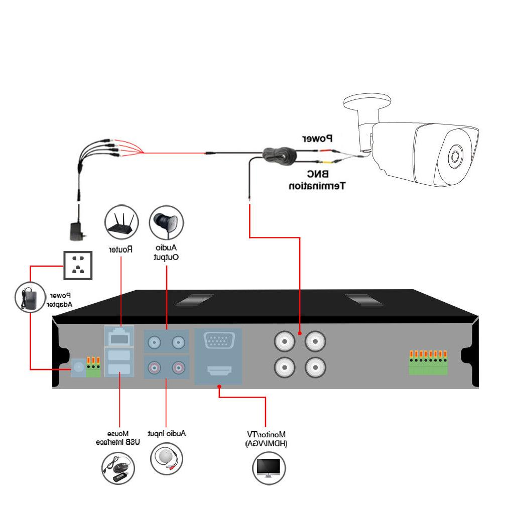 HD Security Night Outdoor CCTV System Home