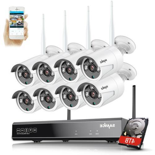 SANNCE HD NVR Wireless IP Network Camera IR