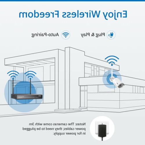 SANNCE NVR Network Security Camera System IR Motion