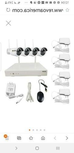Revo HD 4-Channel 1TB NVR Home Surveillance System 4 HD Wire