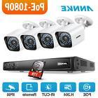 ANNKE HD 6MP POE 4CH NVR 2MP 1080P IR Security Camera System