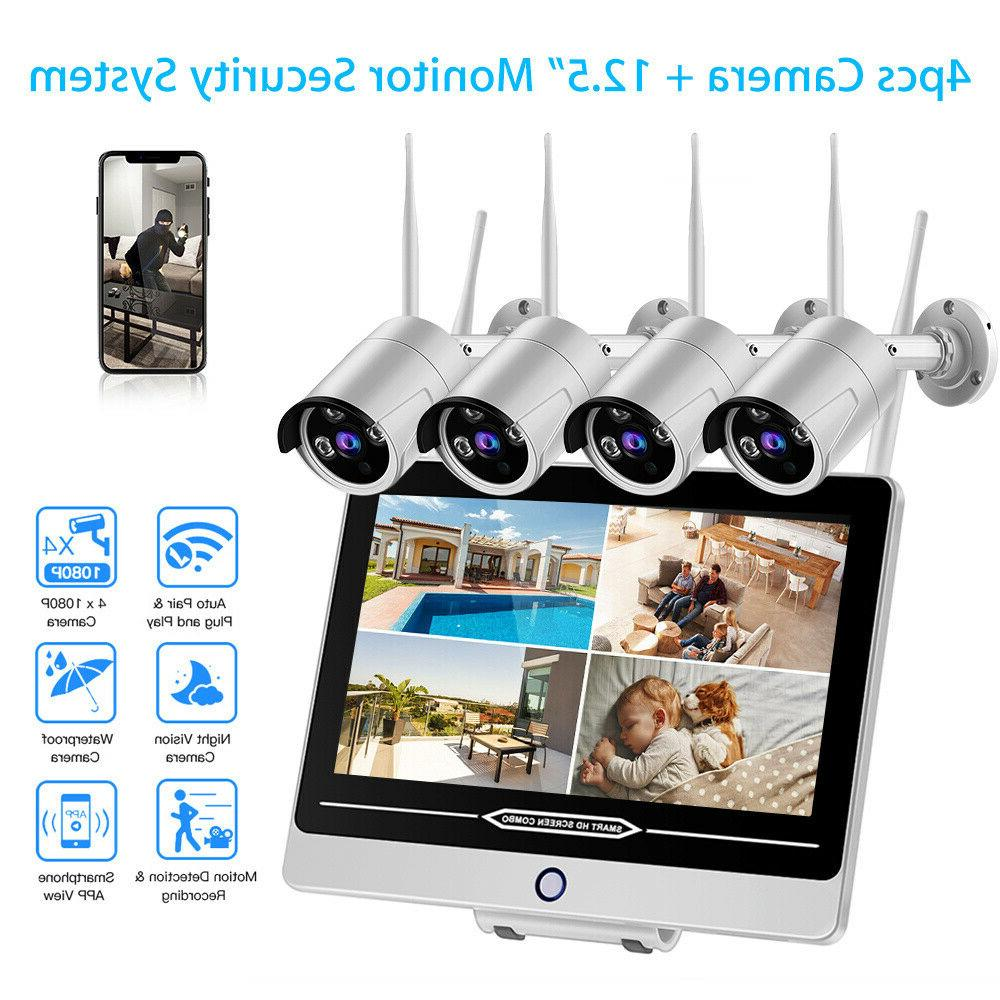 HD Wireless 4pcs 2MP Indoor/Outdoor Free Surveillance