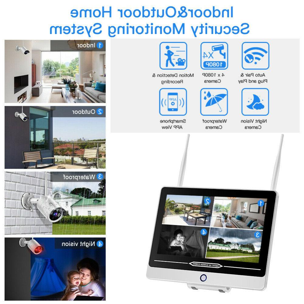 HD Wireless IP 4pcs 2MP Indoor/Outdoor Waterproof Free