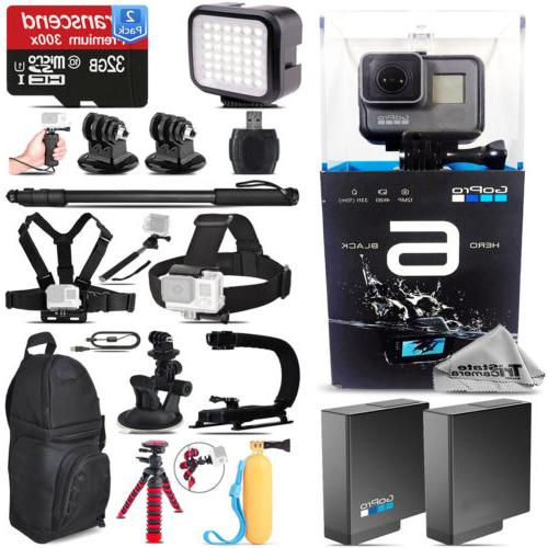 GoPro Hero6 Black 4K Ultra HD Camera + Extra Battery + Backp