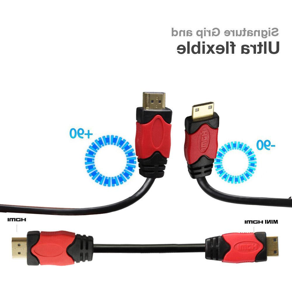 High-Speed HDMI Mini HDMI Cable Adapter HDTV Camcorder