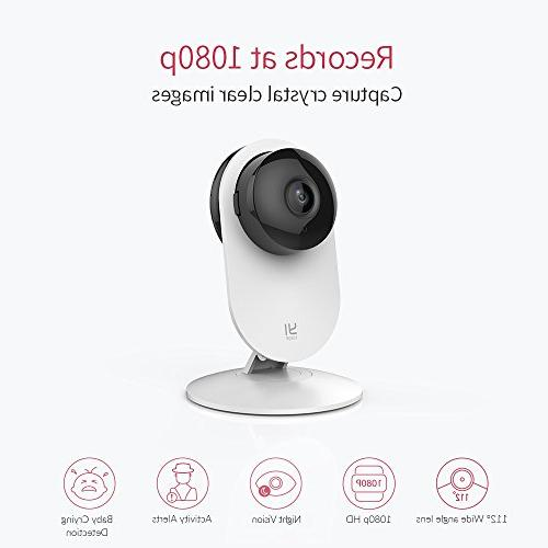 YI 4pc 1080p Wi-Fi Security Surveillance Vision, iOS, Android - Cloud