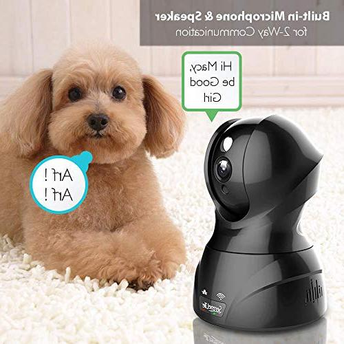 SereneLife Indoor Camera Network Home Monitoring Night Vision, Way iPhone Android - IPCAMHD82