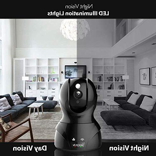 SereneLife Camera HD Network Monitoring Night PTZ, Way - Android Mobile WiFi - IPCAMHD82