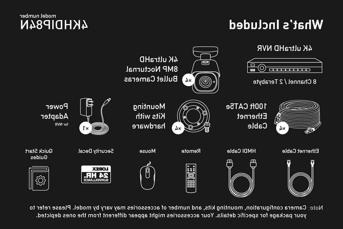 Lorex IP Ch NVR System with 4K IP Cameras