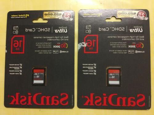 lot 2 16 gb ultra sdhc card