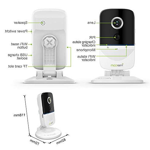 FREECAM Mini IP with Battery Security Surveillance System 720P HD 5M PIR Smart Home