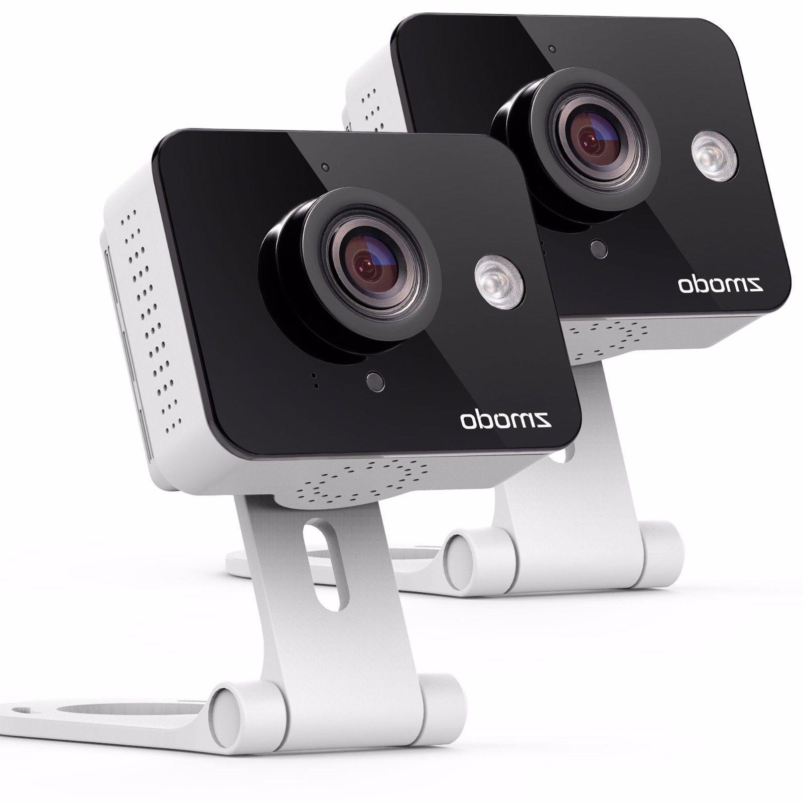 Zmodo 2 Pack WiFi Wireless HD Indoor Security Camera Night V