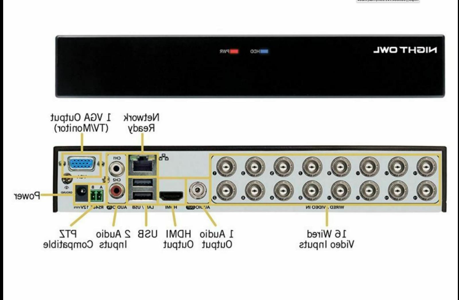 NEW! Channel HD Security HDD 10 Cameras